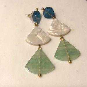 Madewell Tri-color Geo Resin Earrings